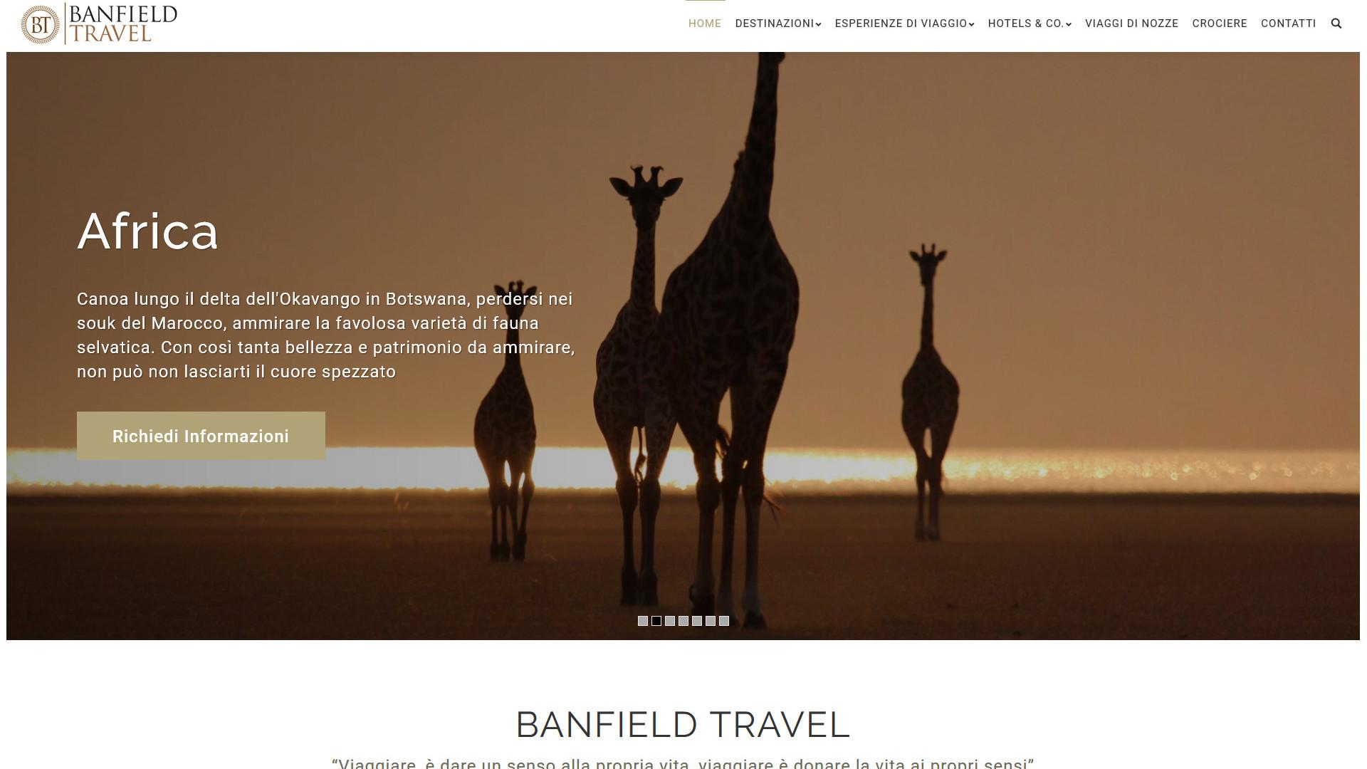 Deserto con Giraffe, viaggio in Africa Banfiel Travel