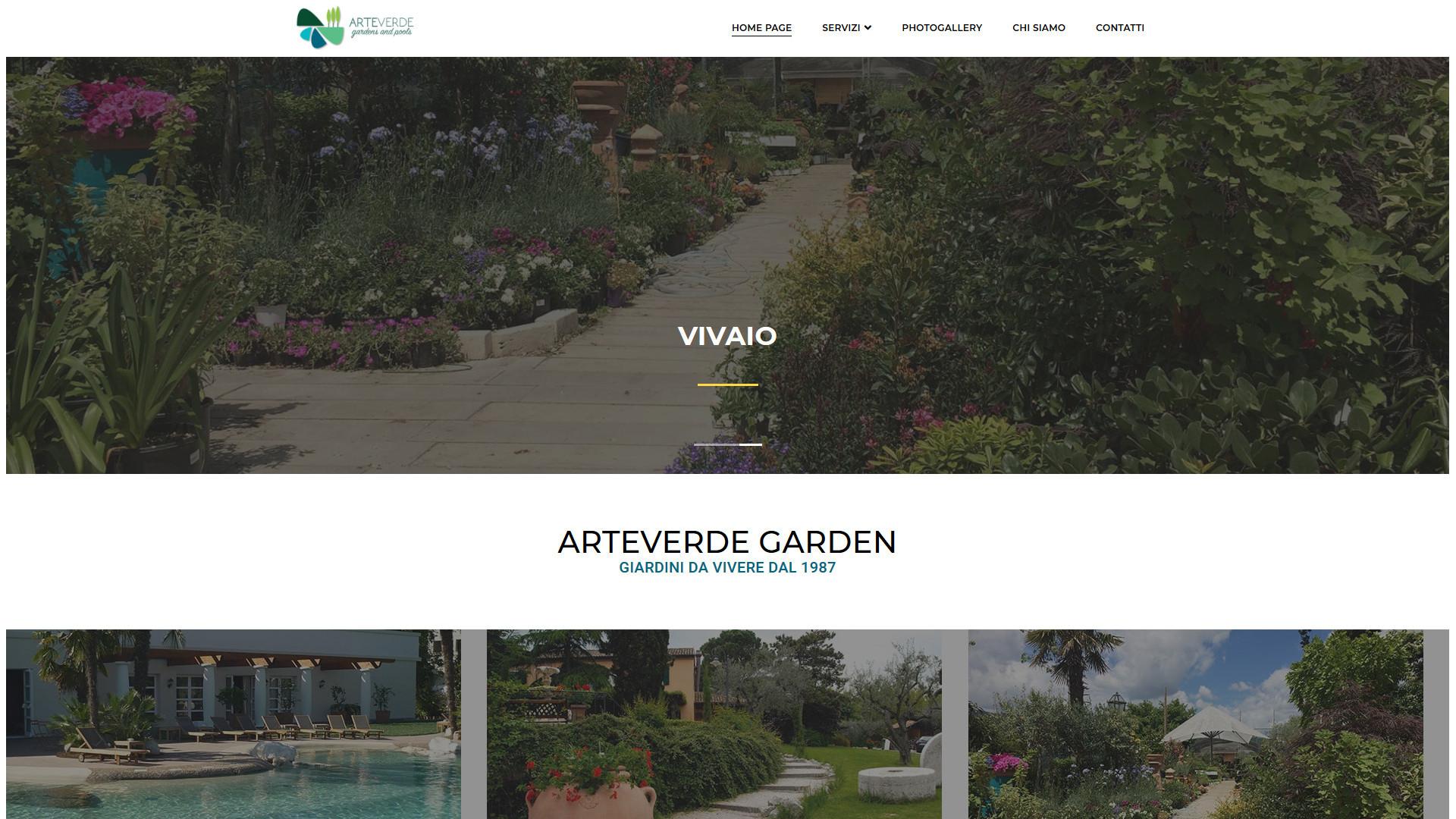 Vivaio con tantissimi fiori e giardini creati da ArteVerde Garden
