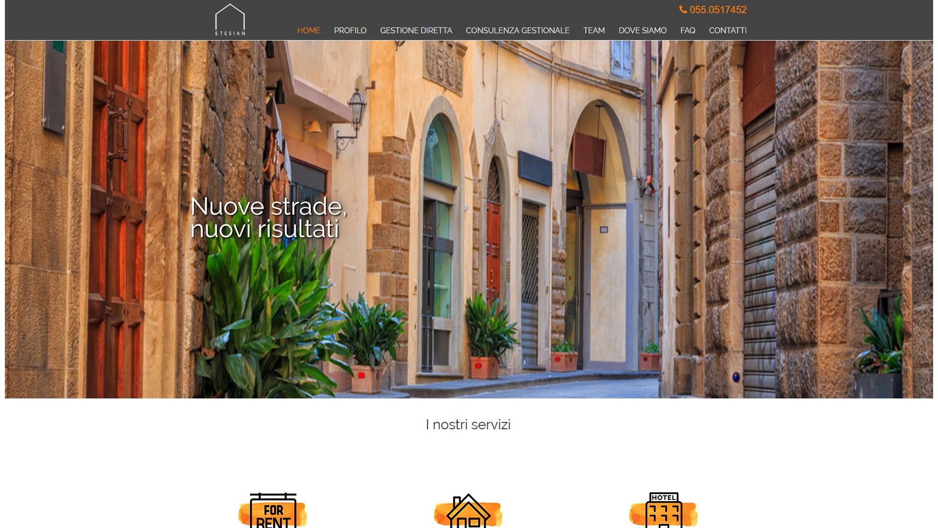 Un vicolo di Firenze con porte e piante - Etesian