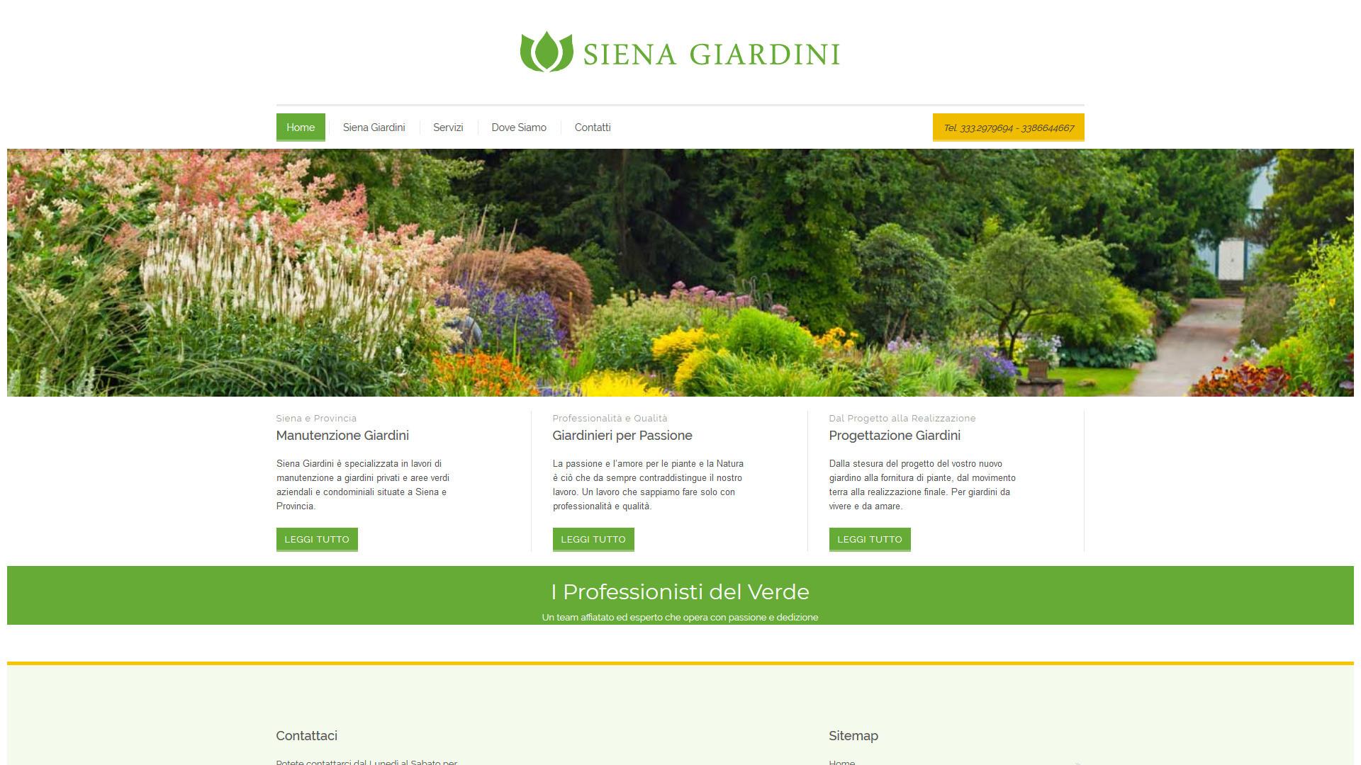 Piante in un giardino a cura di Siena Giardini